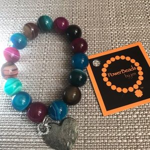 Power beads large bead bracelet